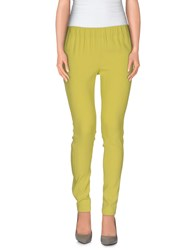 Atos Lombardini Trousers Casual Trousers Women Acid Green