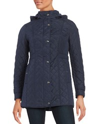Weatherproof Plus Quilted Coat Dark Denim Blue