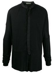 Di Liborio Pleated Panel Shirt Black