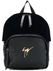 Giuseppe Zanotti Design Logo Plaque Backpack Blue