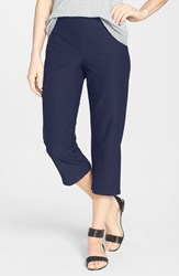 Eileen Fisher Women's Slim Capri Pants Midnight