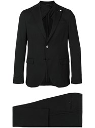 Manuel Ritz Single Breasted Suit Black