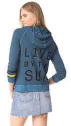 Sundry Live By The Sun Zip Hoodie River