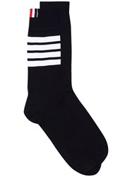 Thom Browne 4 Bar Stripe Cotton Socks 60