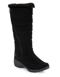Khombu Abby Faux Fur Accented Mid Calf Boots Black