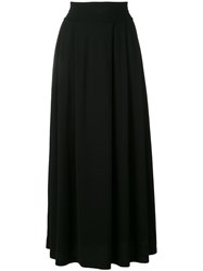 Labo Art Long Pleated Skirt Women Cotton Spandex Elastane 2 Black