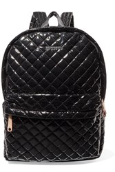 M Z Wallace Mz Metro Leather Trimmed Quilted Vinyl Backpack Black