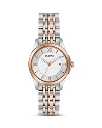 Bulova Modern Watch 27Mm White Rose