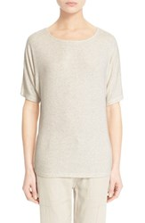 Women's Vince Dolman Sleeve Knit Tee Heather White