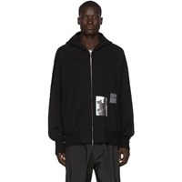 Julius Black Graphic Zip Up Hoodie