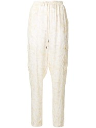 See By Chloe Floral Print Relaxed Trousers Nude And Neutrals