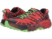 Hoka One One Speedgoat 2 Grenadine Jasmine Green Running Shoes Red