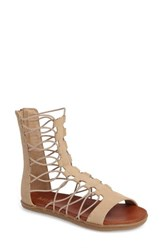 Mia Women's Elly Gladiator Sandal Nude Leather