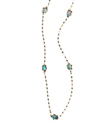 Lana Frosted Ombre Opal Station Necklace