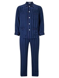 Derek Rose For John Lewis Silk Pyjamas Navy