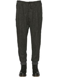 Yohji Yamamoto Wrinkled Washed Wool Blend Flannel Pants