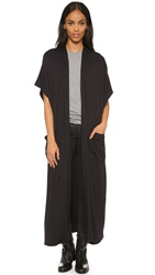 Riller And Fount Wallis Duster Jacket Black French Terry