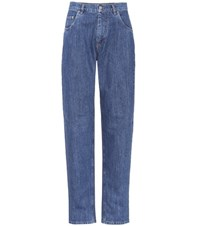 Miu Miu High Waisted Straight Jeans Blue