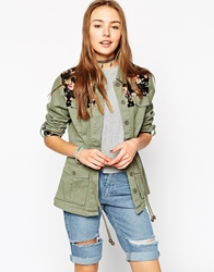 Bellfield Festival Parka With Tapestry Trim Khaki