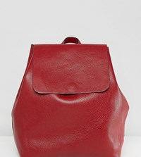 Street Level Minimal Backpack In Burgundy Red