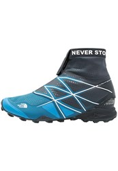 The North Face Ultra Mt Winter Trail Running Shoes Urban Navy White Blue