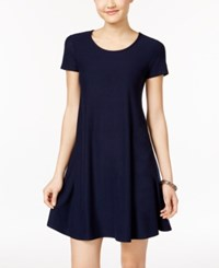 Planet Gold Juniors' Fit And Flare Dress Blue