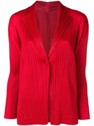 Issey Miyake Pleats Please By Micro Pleated Jacket Red