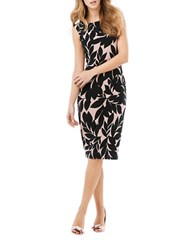 Phase Eight Sleeveless Sheath Dress Black Pink