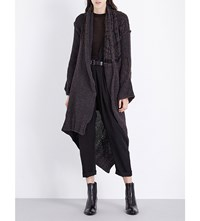 Isabel Benenato Oversized Wool Blend Coat Iron