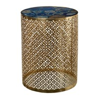 Pols Potten Semi Precious Stone Side Table Blue Gold