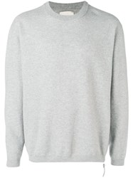 Laneus Long Sleeve Fitted Sweater Grey