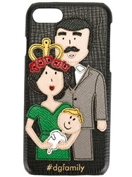Dolce And Gabbana Dg Family Patch Iphone 7 Case Black