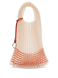 Jil Sander Beaded Small Market Bag Orange