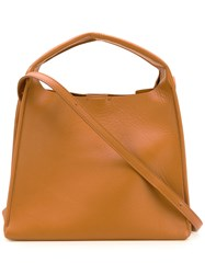 Maison Martin Margiela Small Structured Tote Brown