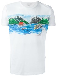 Orlebar Brown 'Canoe Canoodle' T Shirt White