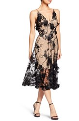 Dress The Population Audrey Embroidered Fit And Flare