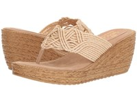 Sbicca Diddy Natural Wedge Shoes Beige