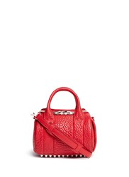 Alexander Wang 'Mini Rockie' Pebbled Leather Duffle Bag Red