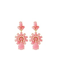 Fragments For Neiman Marcus Fragments Marbled Resin Flower Earrings Pink