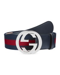 Gucci Web Belt W Interlocking G Green Red