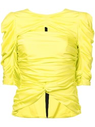 Vionnet Ruched Detail Blouse Yellow And Orange