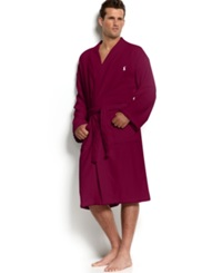 Polo Ralph Lauren Men's Sleepwear Kimono Velour Robe Wine