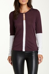 Stella And Jamie Lille Sheer Insert Tee Purple