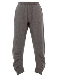 Stella Mccartney Ruched Wool Trousers Grey
