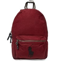 Polo Ralph Lauren Canvas Player Logo Backpack Burgundy