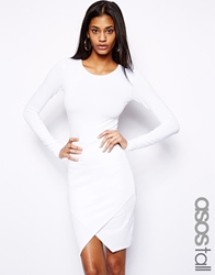 Asos Tall Bodycon Dress With Wrap Front