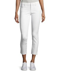 Mother Looker Glass Slipper Crop Jeans White