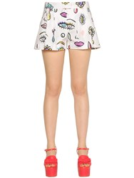 Boutique Moschino Beauty Print Cotton Poplin Shorts