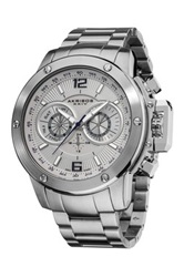 Akribos Xxiv Men's Swiss Quartz Multifunction Watch Metallic