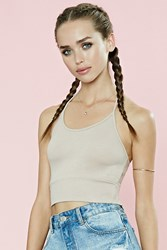 Forever 21 Ribbed Halter Crop Top